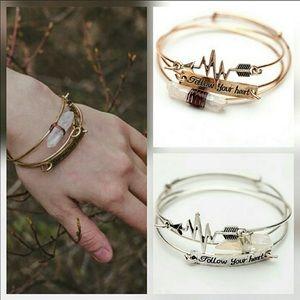 Bangle Bracelet Set - Follow Your Heart
